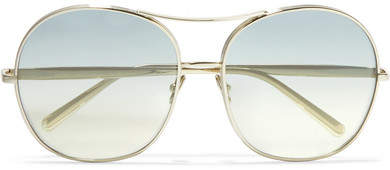 Chloé Nola Oversized Square-frame Gold-tone Sunglasses