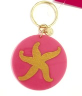 The Well Appointed House Bright Pink Acrylic Key Chain with Gold Starfish - IN STOCK IN OUR GREENWICH STORE FOR QUICK SHIPPING