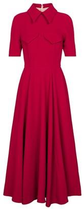 Emilia Wickstead Alice crepe midi dress