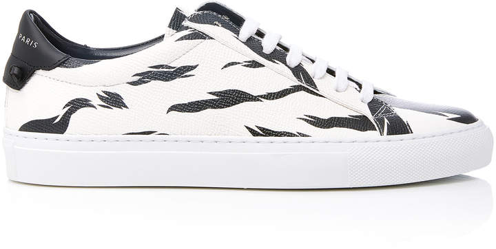 Givenchy Printed Textured-Leather Sneakers