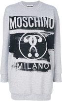 Moschino logo sweatshirt - women - Cotton/other fibers - XS