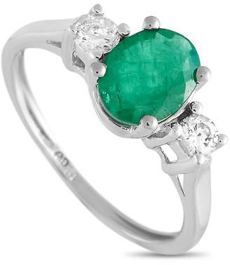 Non Branded Lb Exclusive 14K 0.20 Ct. Tw. Diamond & Emerald Ring