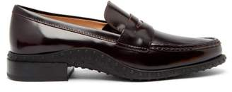 Tod's Gommini Leather Loafers - Womens - Burgundy