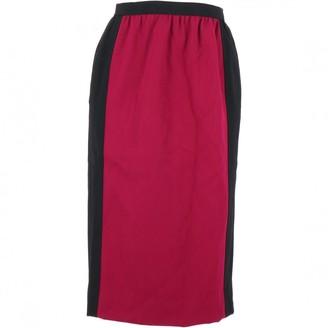 Saint Laurent Pink Wool Skirt for Women