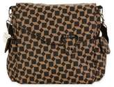 Kalencom Ozz Messenger Bag in Brown Geometric Pattern