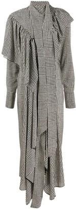 Petar Petrov houndstooth print ruffled dress