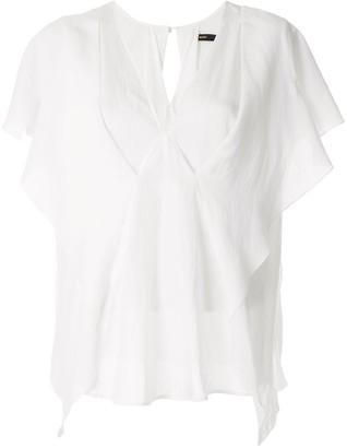 Muller of Yoshio Kubo Stapel v-neck blouse