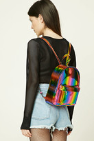 Forever 21 FOREVER 21+ Sheeny Rainbow Backpack