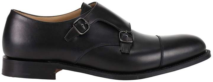 Church's Brogue Shoes Detroit Smooth Shoes With Double Buckles On The Upper