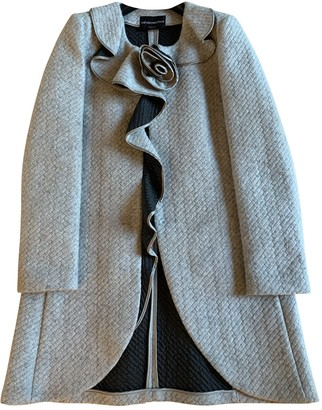Emporio Armani Grey Wool Coat for Women