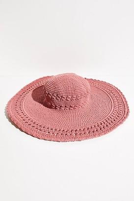 Free People Gemma Wide Brim Crochet Hat