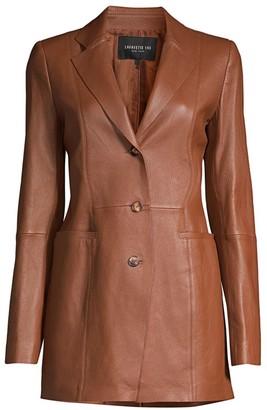 Lafayette 148 New York Jaqueline Leather Blazer