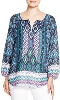BeachLunchLounge Arianna Printed Peasant Top