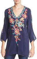 Johnny Was Roma Floral Embroidered Tunic