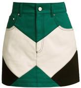 Kirin Color Combination Denim Skirt