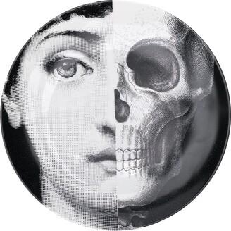 Fornasetti skull portrait plate
