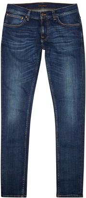 Nudie Jeans Tight Terry blue slim-leg jeans