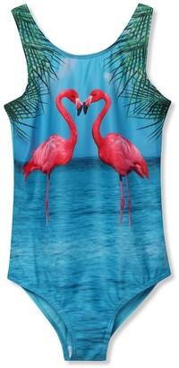 M&Co Flamingo swimsuit (3-12yrs)