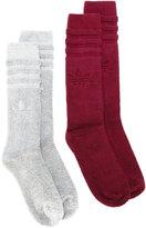 adidas two pairs ribbed socks - men - Cotton - S
