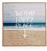 DENY Designs Deny Happy Place X Beach Framed Print, 20 x 20