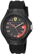 Ferrari Men's 0830288 Laptime Analog Display Japanese Quartz Black Watch