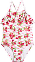 Mayoral Cherry-Print One-Piece Swimsuit, Size 3-7