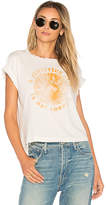 Mother A Glittering Gem Is Not Enough Crop Tee in White. - size L (also in M,S,XS)
