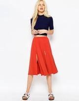 Asos Midi Skirt with Splices