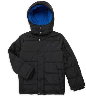 Calvin Klein Jeans Little Boy's & Boy's Removable Hood Jacket