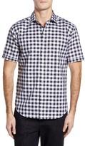 Bugatchi Men's Shaped Fit Dobby Check Sport Shirt