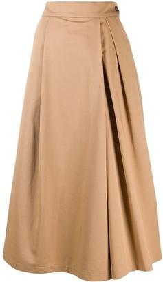 Barena Side Button A-Line Skirt