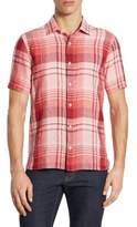 Z Zegna Short Sleeve Checkered Shirt