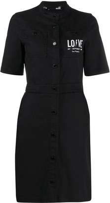 Love Moschino Logo Shirt Dress