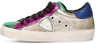 Philippe Model Color Block Laminated Leather Sneakers