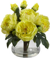 Asstd National Brand Nearly Natural Peony & Rose With Vase