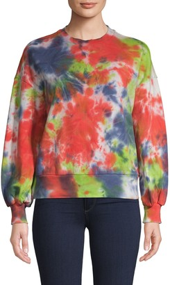 Central Park West Tie-Dyed Cotton Sweatshirt