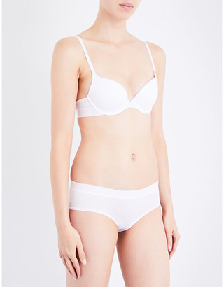 DKNY Classic Cotton stretch-cotton plunge bra
