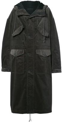 Haider Ackermann Oversized Long Hooded Coat