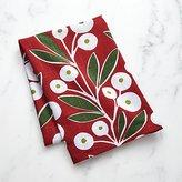Crate & Barrel Holiday Botanical Dish Towel
