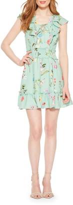 Parker Celeste Floral Smocked Ruffle Minidress