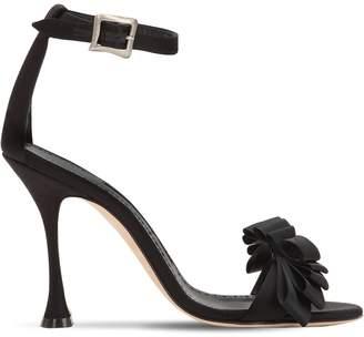 Manolo Blahnik 105mm Vinkaos Satin Sandals