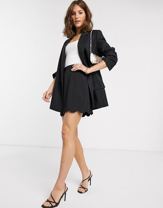 ASOS DESIGN tailored a-line mini skirt with scallop hem