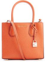 MICHAEL Michael Kors Women's Mercer Mid Messenger Tote Bag Orange