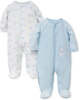 Little Me 2-Pk. Puppy Hug Footed Cotton Coveralls, Baby Boys (0-24 months)