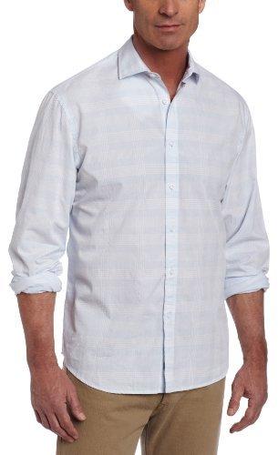 Leroy James Campbell Men's Plaid Long Sleeve Woven
