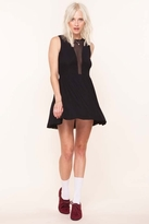 For Love & Lemons Lulu Dress in Black Stripe