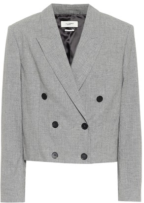 Etoile Isabel Marant Lisby cropped wool-blend blazer
