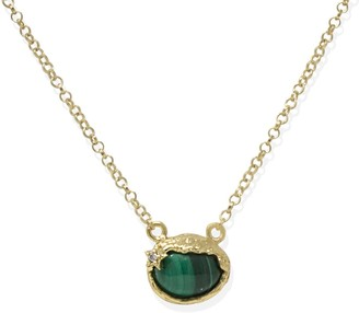 Vintouch Italy Ad Astra Gold-Plated Malachite Necklace