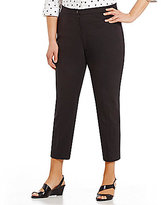 Allison Daley Plus Lisa Slit Hem Ankle Pants