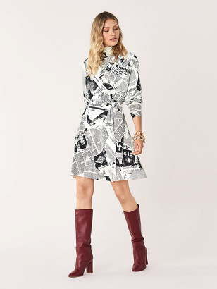 Diane von Furstenberg Shia Crepe Wrap Dress